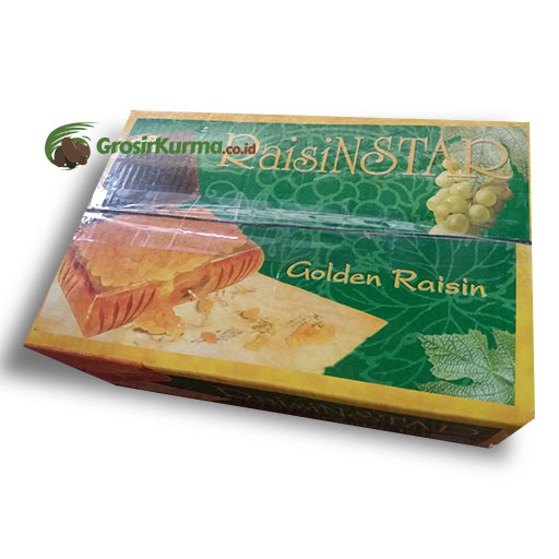 Golden Raisin Jumbo dari India (5kg) – 1 Dus