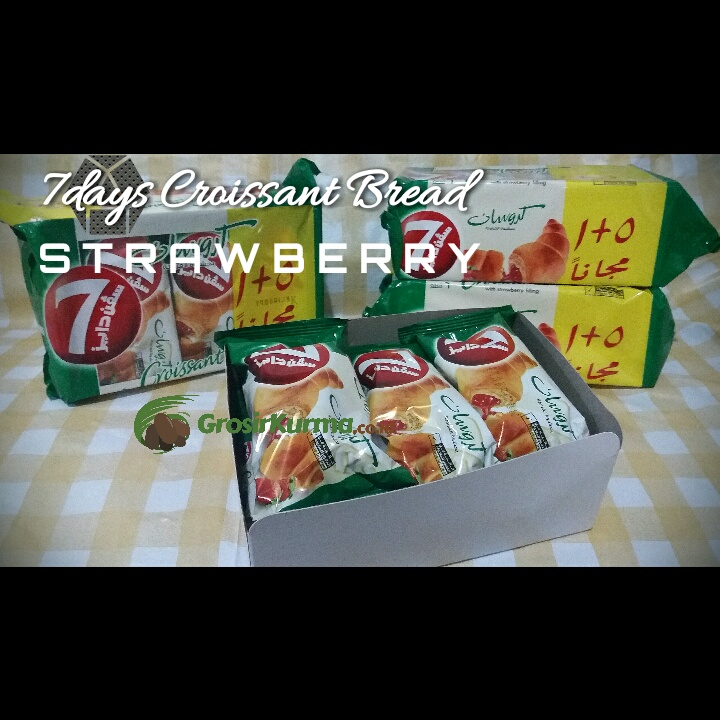 Roti Croissant Strawberry 7days (55 Gr) – 1 Pcs