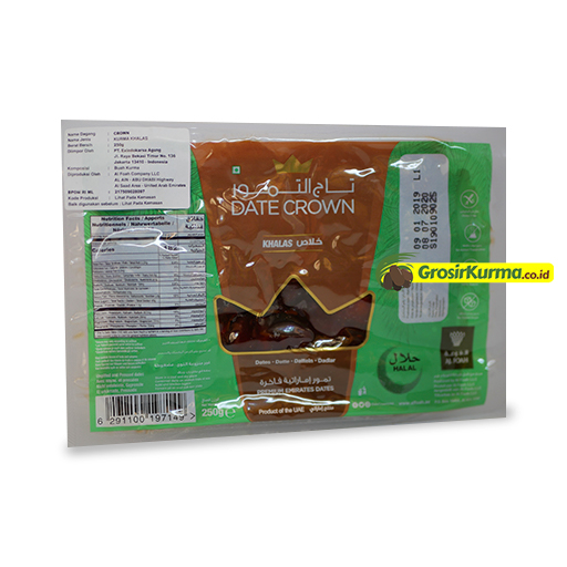 Date Crown Khalas Thermo (250 Gr) – 1 Dus @40 Pack