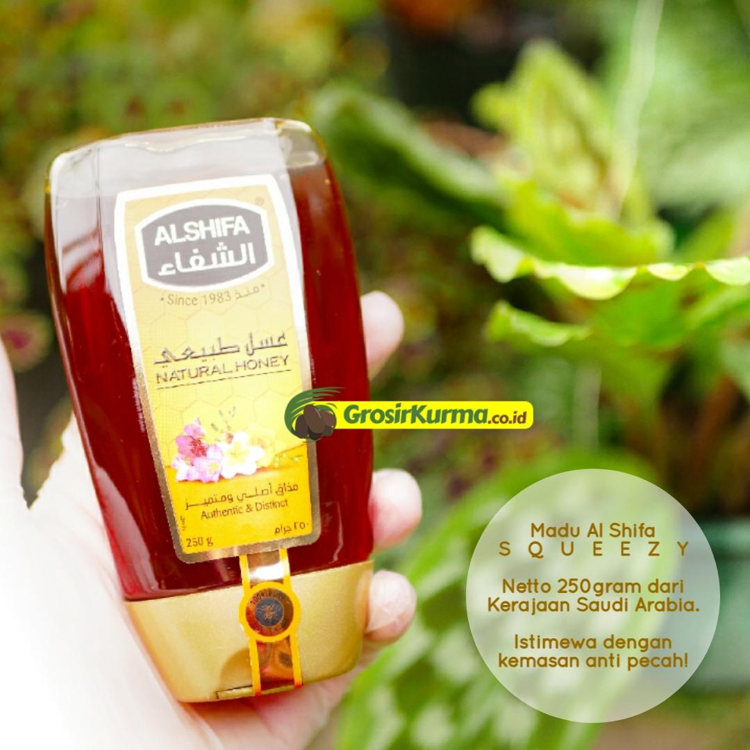 Madu Murni Saudi Al Shifa Squeezy (250 Gr) – 1 Botol